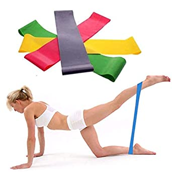 Coedfa Resistance Band Loop Yoga Pilates Home Gym Fitness Exercise Workout Training Random Stretch Band Fitness Band Fitness Stretch Band Stretch Band 500 50 0.3mm