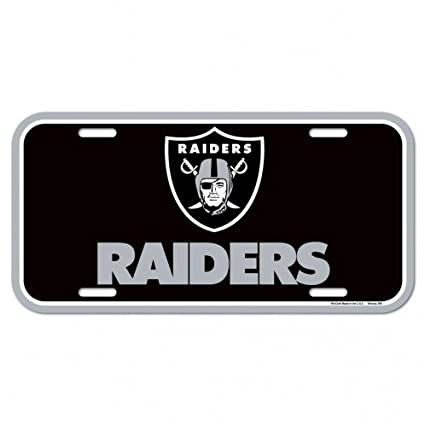 Image Unavailable. Image not available for. Color  NFL Oakland Raiders  License Plate ... 038ec591ef