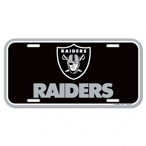 WinCraft NFL Oakland Raiders License Plate, Team Color, One Size