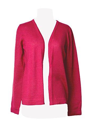 TINKUY PERU - Peruvian Alpaca Wool - Womens Red Cardigan Knit Sweater Medium M