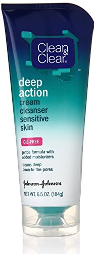 CLEAN & CLEAR Deep Action Cream Cleanser, Sensitive Skin Oil