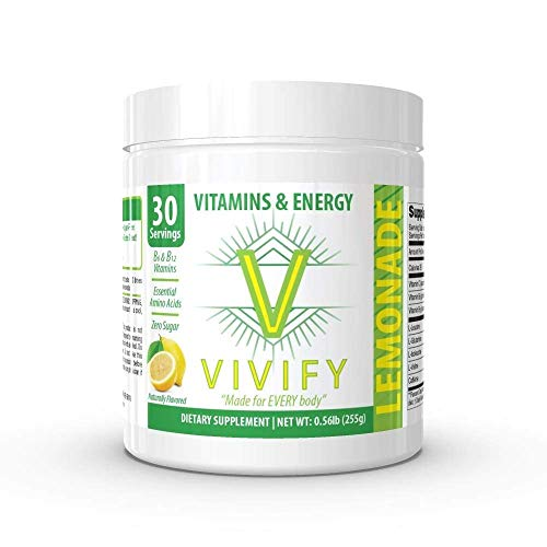 Vivify Zero Sugar, Energy, Endurance, and Recovery Beverage Mix. 30 Servings