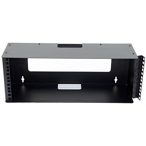 R2520/4U Steel Rack Mount Wall Bracket with Hinged Rack Strip and Cable Exit. by Penn Elcom