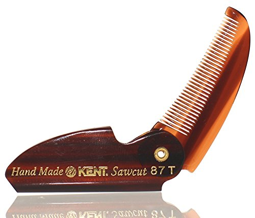 Kent 87T 2 1/2″ 70mm Brand New Limited Edition Folding Beard & Mustache Comb by Kent Combs