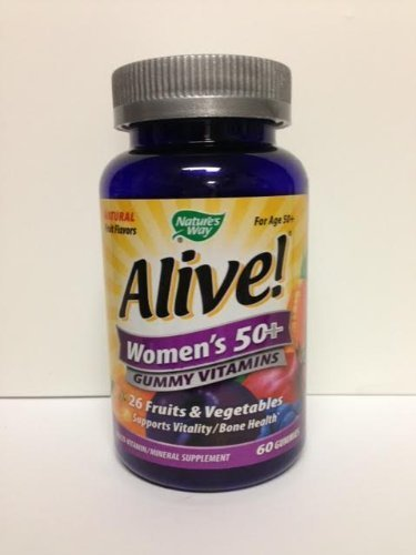 ALIVE - Womens, 50 and Over, Multivitamin Chewable Gummies 60 CT by ALIVE