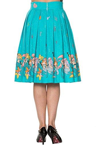 Banned - Falda - para mujer azul turquesa