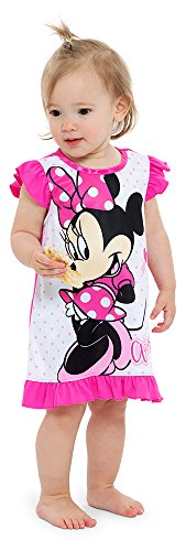 Disney Toddler Girls' Minnie Mouse Nightgown, Classic Pink, 2T -