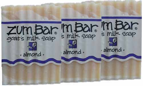 Indigo Wild: Zum Bar Goat's Milk Soap Bar, Almond 3 oz (3 pack)