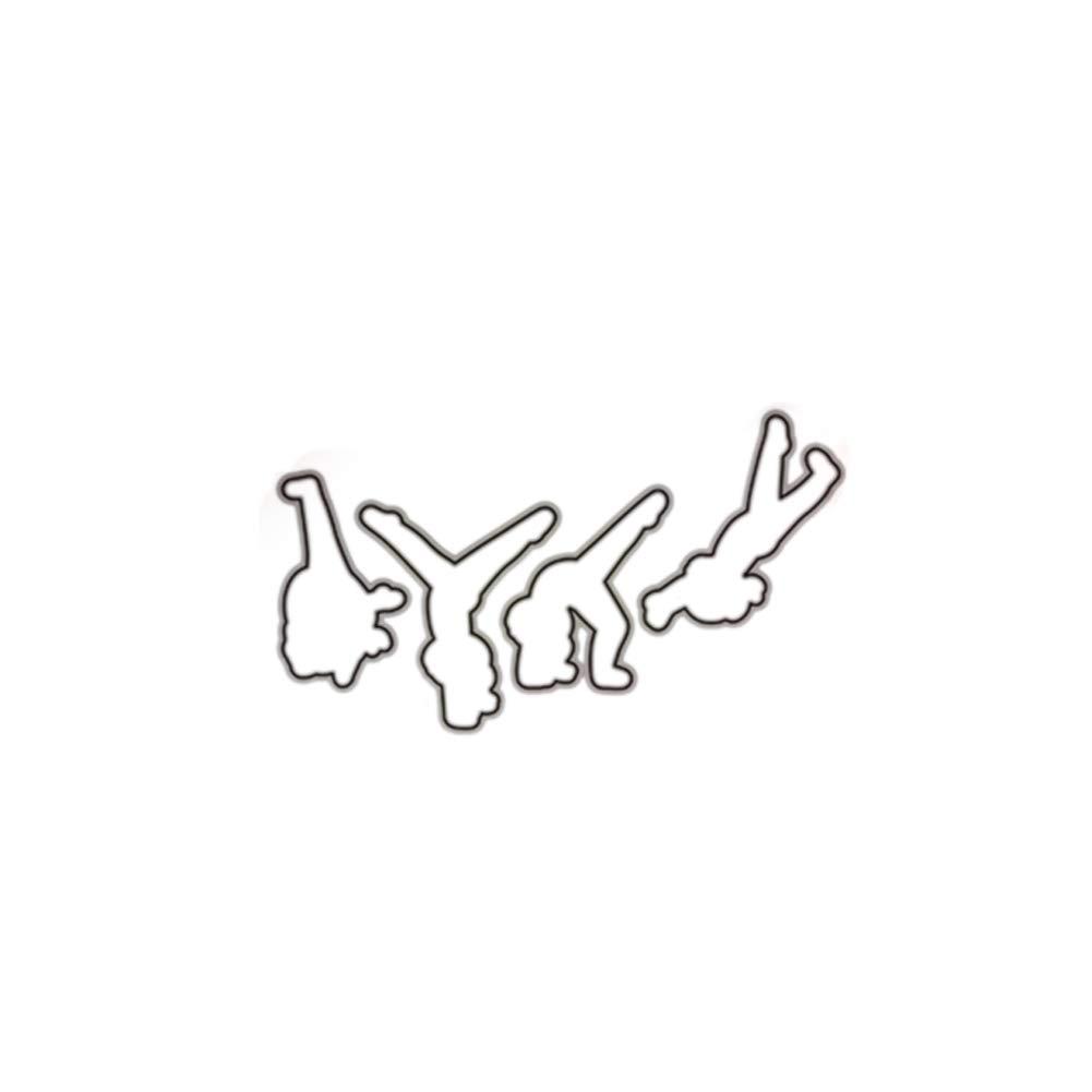 Duk3ichton Troquel De Corte//Sello Deportivo Gimn/ástico Troquelado De Metal Sello DIY Scrapbook Plantilla Papel Tarjeta Decoraci/ón De Morir.