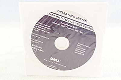 Dell Operating System ReInstallation DVD Windows Vista Business 32 Bit SP1 Year 2008 Part Number: R053G PC Computer Software Installation Recovery Driver Disc-Sealed New