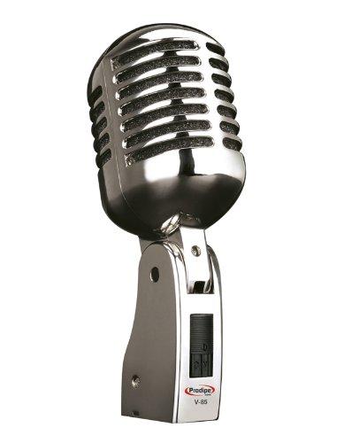 Prodipe 90050 V-85 Lanen dynamisches Vintage Mikrofon aus Metall mit Chromveredelung