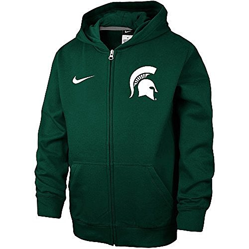 NIKE Michigan State Spartans Youth Full-Zip Hoodie Jacket (YTH S)