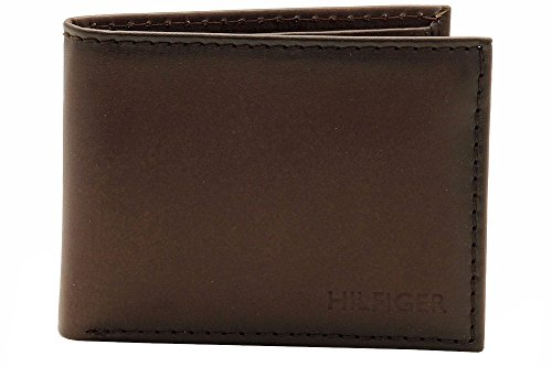 Tommy Hilfiger Men's Bergen Pass Case Billfold Wallet, Brown, One Size