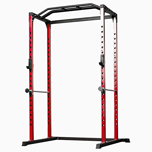 Rep PR-1100 Power Rack - 1,000 lbs Rated Lifting Cage for Weight Training (Red Power Rack, No Bench) by Rep Fitness (Image #7)