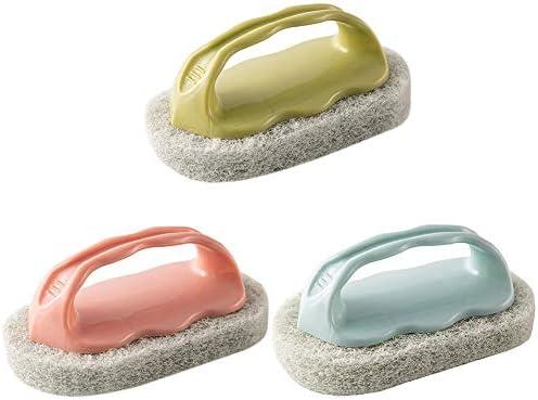 OPmklp 台所用スポンジ 抗菌タイプ ウレタンスポンジ 掃除用品 泡立ち簡単 傷つけず 洗浄しやすい ハンドル付き 風呂スポンジ 掃除グッズ 3セット