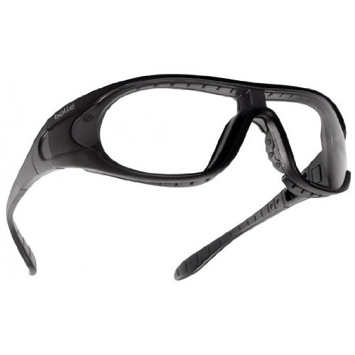 Bolle Raider Ballistic Spectacles - Clear, Smoke, Yellow Lens Black Frame by Bolle Safety (Image #1)