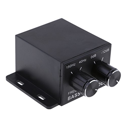 Baoblaze Car Home Subwoofer Equalizer Crossover Amplifier RCA Adjust Line Level Volume