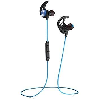 Phaiser BHS-750 Bluetooth Headphones Runner Headset Sport Earphones with Mic and Lifetime Sweatproof Guarantee - Wireless Earbuds for Running, Oceanblue