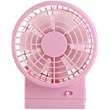 Personal Fan Portable Fan Handheld Fan Table Fan Mini USB Fan Travelling Fan USB Dest Fan (pink)