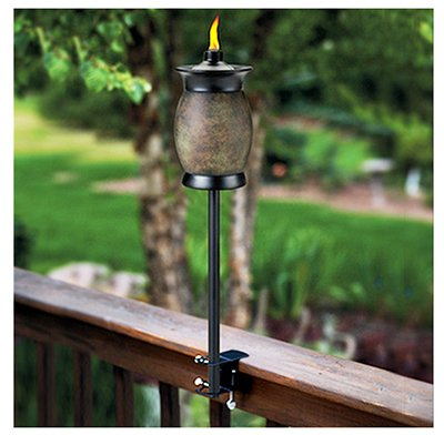 (2) ea Lamplight Farms / Tiki 1112155 4-In-1 Multi Use Citronella Patio Torches