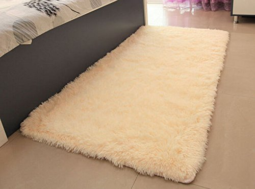 ACTCUT Super Soft Solid Carpet/Floor Rug/Living Room Carpet/Area Rug Size: 2.5 Feet X 5 Feet (Yellow)