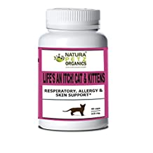 Natura Petz Organics Respiratory, Allergy & Skin Support Cats Capsules, 90 Capsules, Size 3, Chicken Flavor