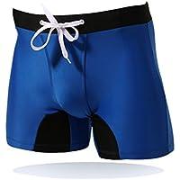 ruefree Bañador de natación nadar Boxer Brief Shorts con Tie frontal