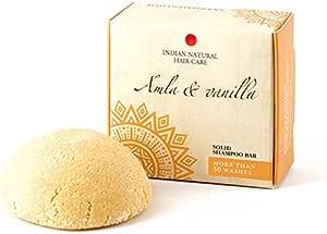 Solid shampoo bar - Amla & vanilla - For normal-damaged hair - Indian Natural Hair Care - 2.12 oz