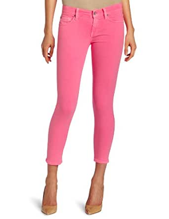 7 For All Mankind Women's Crop Skinny Jean in Hot Neon Pink, Hot Neon Pink, 26