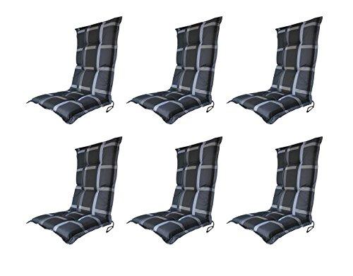 Madison-Sesselauflage-Polster-Wide-grey-Hochlehner-6er-Set