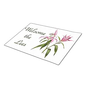 LittleTime Bloom Gardeners Monogrammed Door Mat