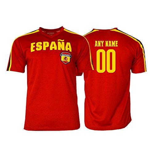 bf77056b7 Pana Spain Soccer Jersey Flag España Adult Training World Cup Custom Name  and Number (Custom Name ADDS