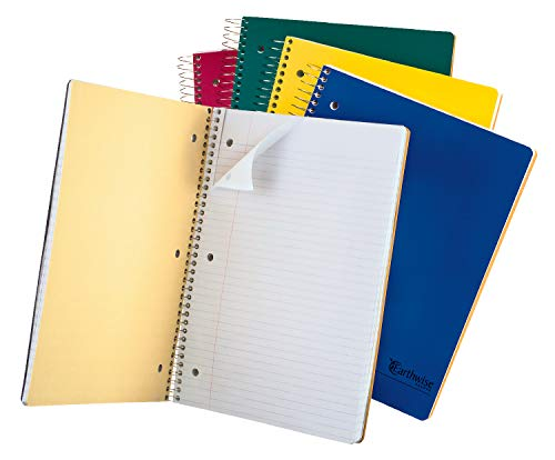 Ampad Single Wire  Notebook, Size 11 Inches X 8.5 Inches, Assorted Colors, College Ruled, 150 Sheets, 25-435, 1 Each