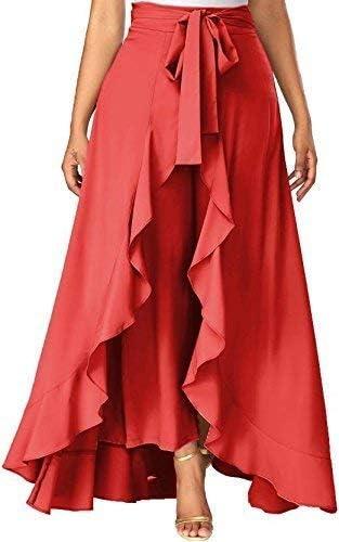 Women's Heavy Ruffle Rayon Palazzo Skirt