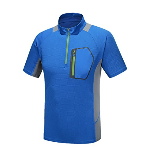 Modern Fantasy Men's Quick-drying Stand Up Short Sleeve Athletic Cool Running T-Shirt Blue S