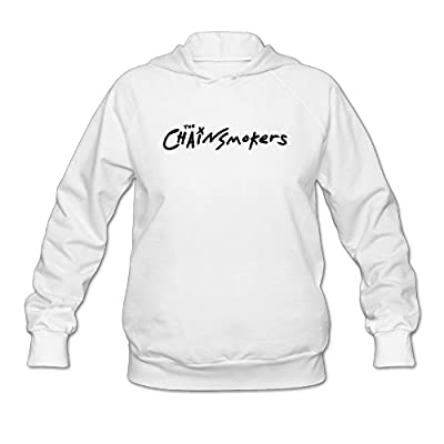 The Chainsmokers Logo Hooded Sweatshirt White For Women