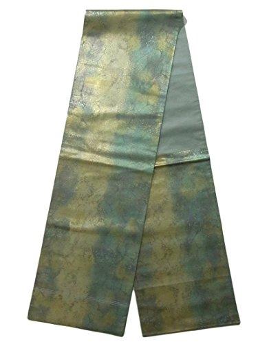 教育する月面エジプトリサイクル 袋帯  氷割れ文様 正絹 六通