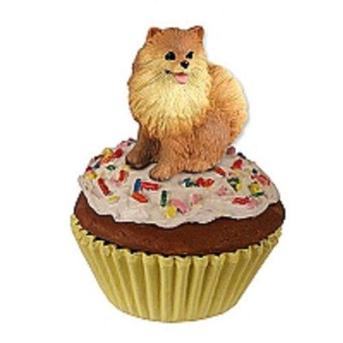 (Pomeranian PupCake Dog Trinket Box - Red)