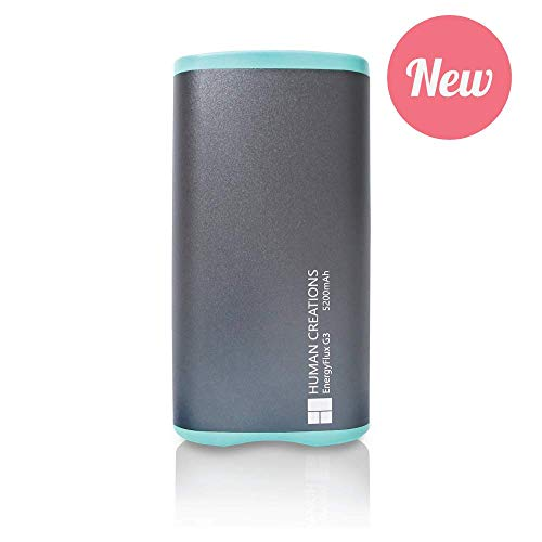 Human Creations EnergyFlux G3 Rechargeable Hand Warmer - Warm Up with Next Generation Reliability and Usability (Turquoise, 5200mAh)