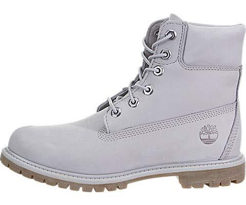 Timberland Womens 6 Inch Premium Boot, Gull Grey Waterbuck Monochromatic, Size 6.5
