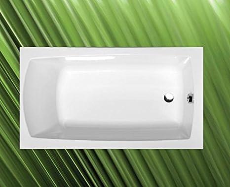 Vasca Da Bagno 120 120 : Vasca da bagno lily  cm acrilico in bianco con