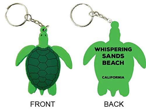 Whispering Sands Beach California Souvenir Green Turtle Keychain