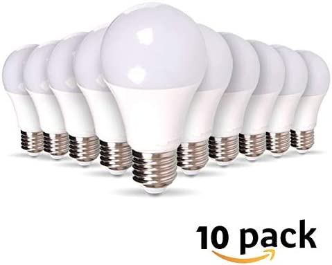 Lot de 10 Ampoules LED E27 9W equivalence 60W 806lm, Non Dimmable … (Blanc Froid)