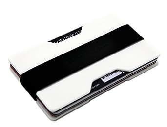Zhoma Slim Wallet - Minimalist Front Pocket Money Clip & Card Holder - White