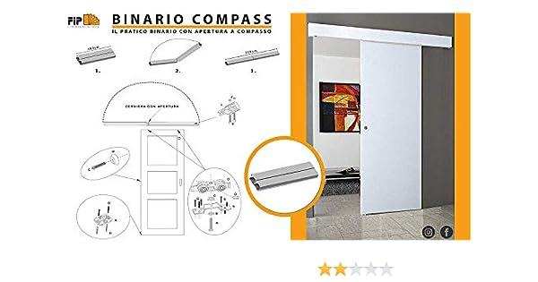 Riel kit para puerta corredera 200 cm carga 70 kg COMPASS: Amazon.es: Bricolaje y herramientas