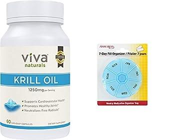 Viva Naturals de aceite de Krill - 100% puro frío Antártico Krill aceite prensado,