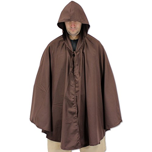 Greek Traditional Costumes To (Renaissance Gothic SCA & LARP Costume Shoulder Hooded Cape Cloak Brown)