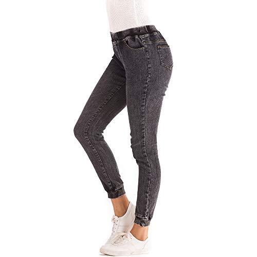 in Pantaloni Casuali Denim Corti Elasticizzati Donna pi MEIBax Jeans gAwA4XZTq