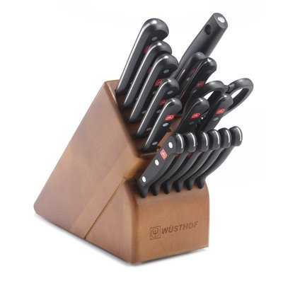 Wusthof Gourmet 18 Piece Cherry Block Knife Cutlery Set 9718-2