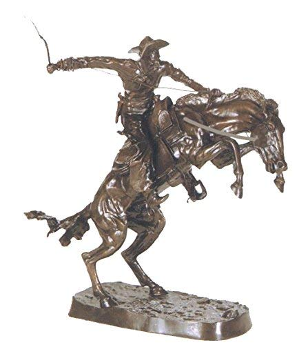 Frederic Remington Solid Bronze Bronco Buster Statue Sculpture - Jumbo - Statue Bronco